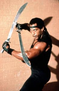 """Haciendo frente a los ninjas en """"El guerrero americano III""""."""