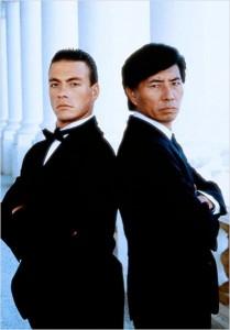 "Kosugi y Van Damme frente a frente en ""Black Eagle (Águila Negra)""."