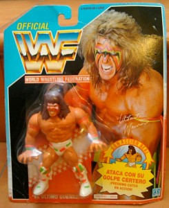 Mi muñeco de Ultimate Warrior aún en su blister original.