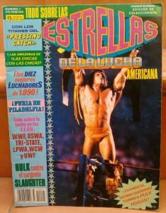 Uno de mis tesoros: El número 1 de Estrellas de la lucha americana con Ultimate Warrior en la portada.